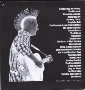 Paul Carbuncle New Boots And Shanties CD (sleeve back)