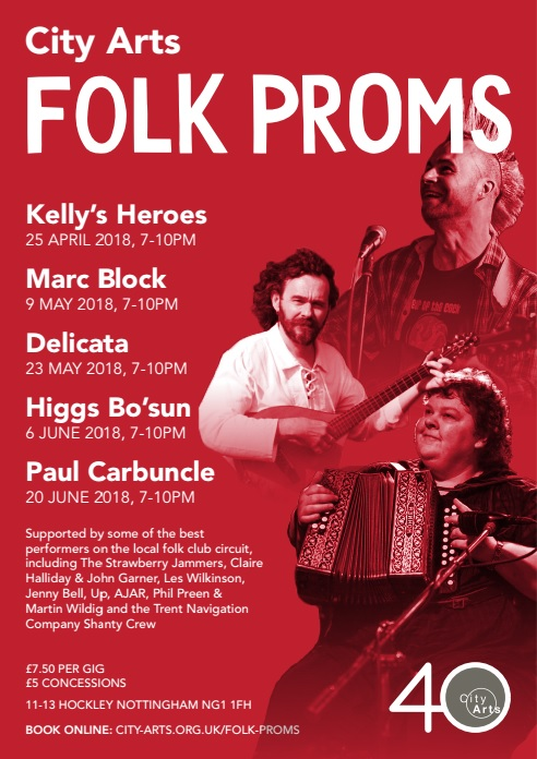 City Arts Folk Prom 20 June 2018