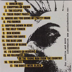Paul Carbuncle A Cold Cup Of Tea CD (sleeve back)