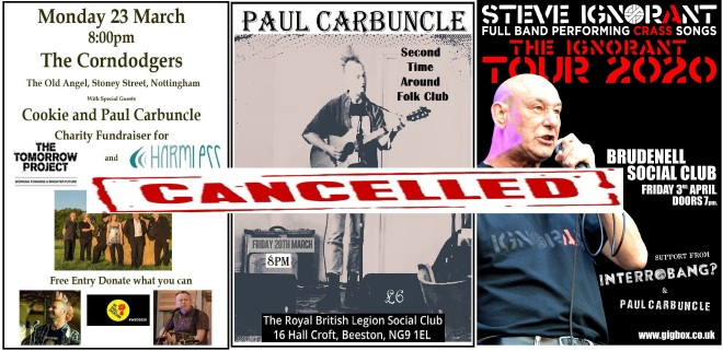 Cancelled gigs part 1