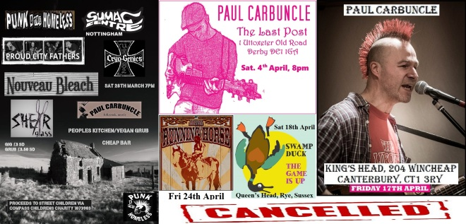 Cancelled gigs part 2