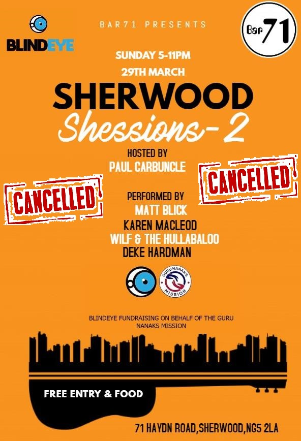 Shessions 29 March 2020 cancelled
