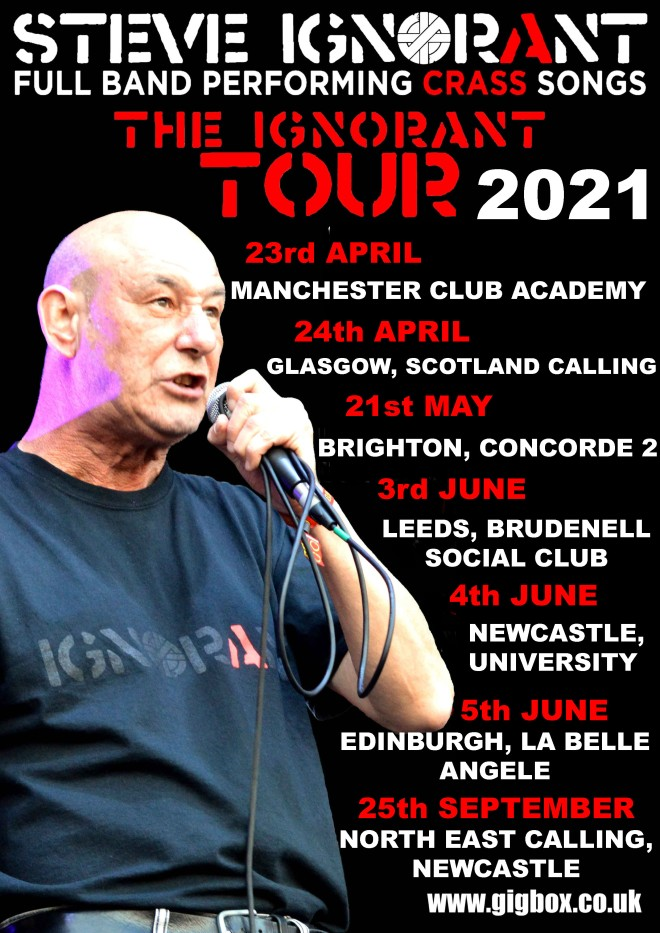 Steve Ignorant Tour 2021